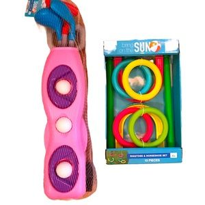 Ring Toss + Plastic Golf Summer Toy / Game Set NWT